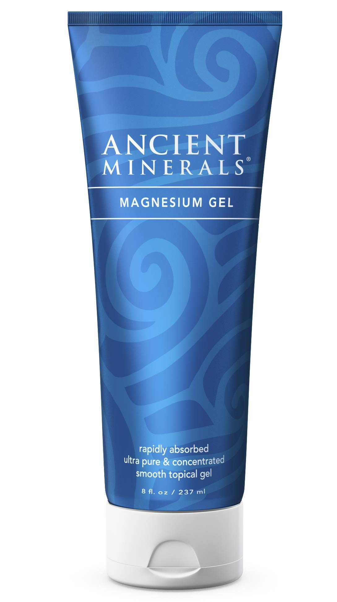 Ancient Minerals Magnesium Gel - Hydrating Magnesium Chloride Cream with Certified Organic Aloe Vera Barbadensis Leaf Juice (8oz)