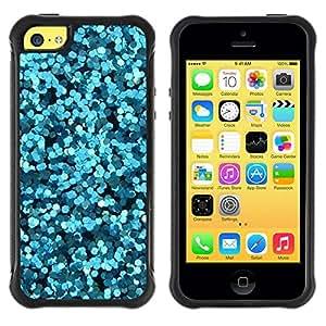 "Pulsar iFace Series Tpu silicona Carcasa Funda Case para Apple iPhone 5C , Flores abstractas Mar Surf Buceo"""