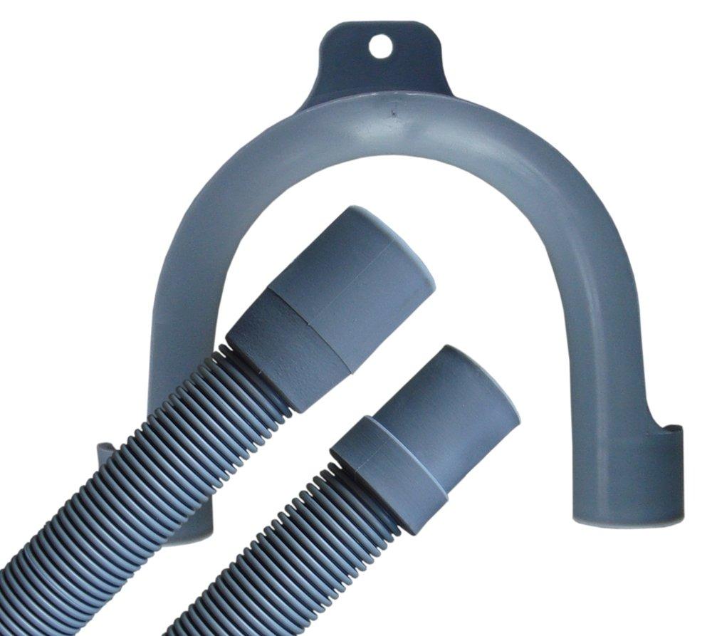 Spiralablaufschlauch, Ablaufschlauch 19mm x 22m mit Bügel für die Waschmaschine oder Spülmaschine (4,00m / 4.000mm) der-Schlauchfritze.de