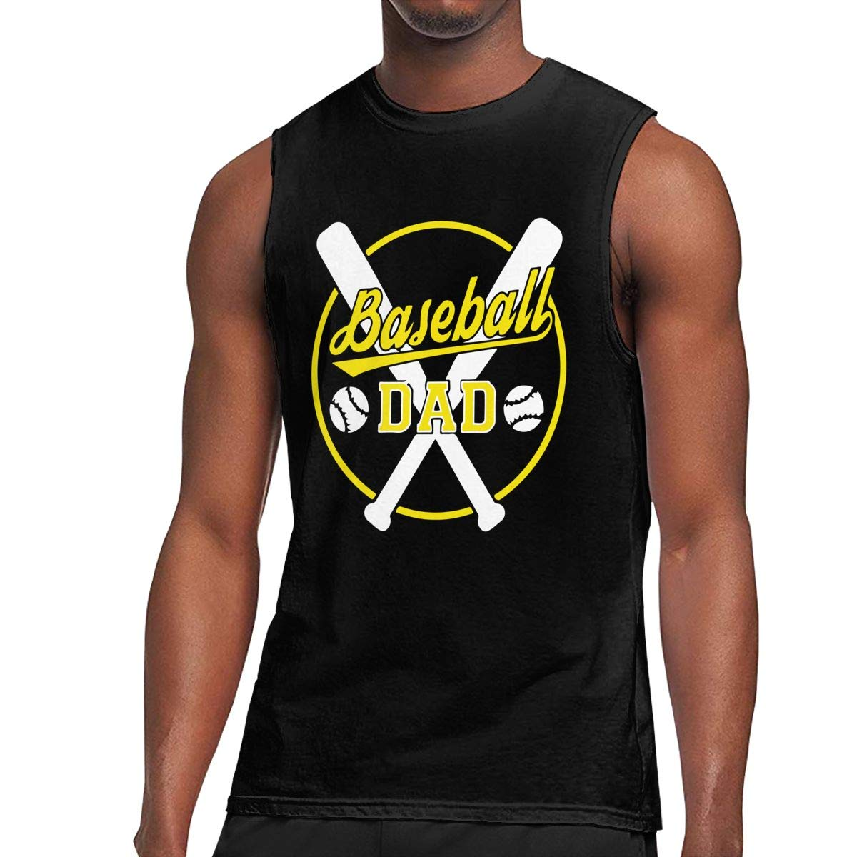 NMG-05 Baseball Dad1 Mens Cool Breathable Jersey Tank Undershirts