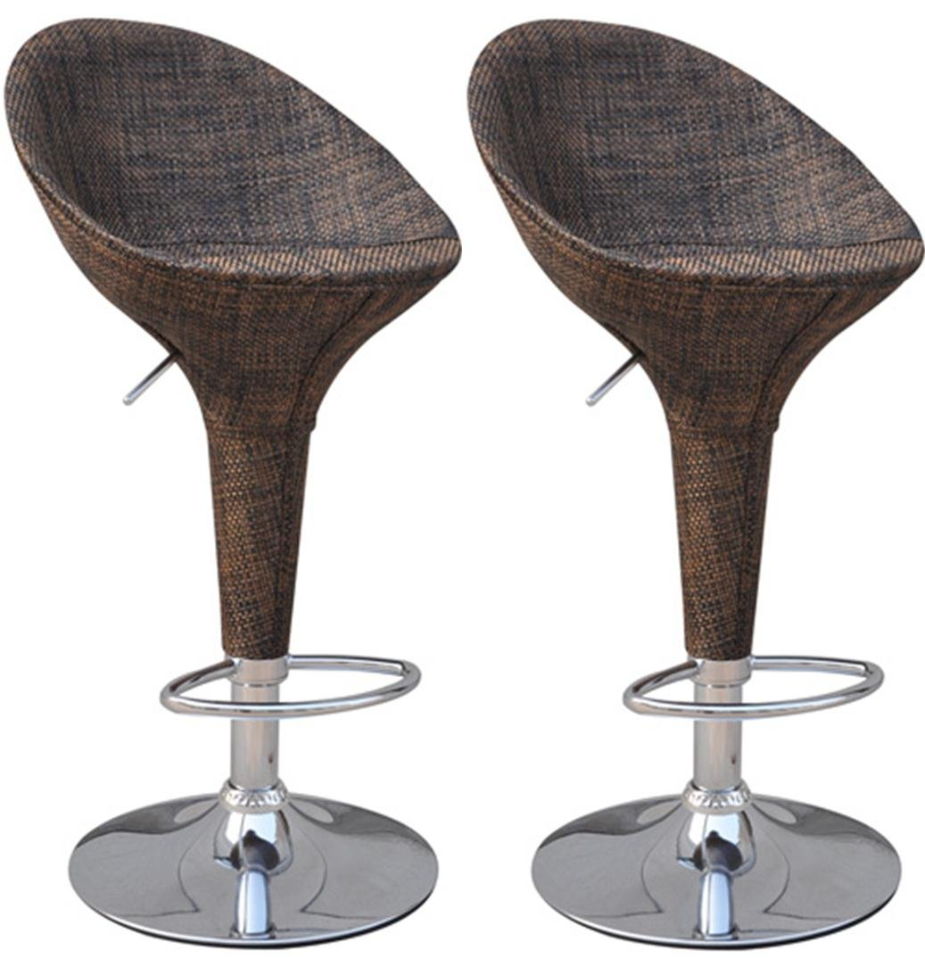 Amazon.com HomCom Modern Adjustable Pub Swivel Barstool 2 pack - Rattan Wicker Kitchen u0026 Dining  sc 1 st  Amazon.com & Amazon.com: HomCom Modern Adjustable Pub Swivel Barstool 2 pack ... islam-shia.org