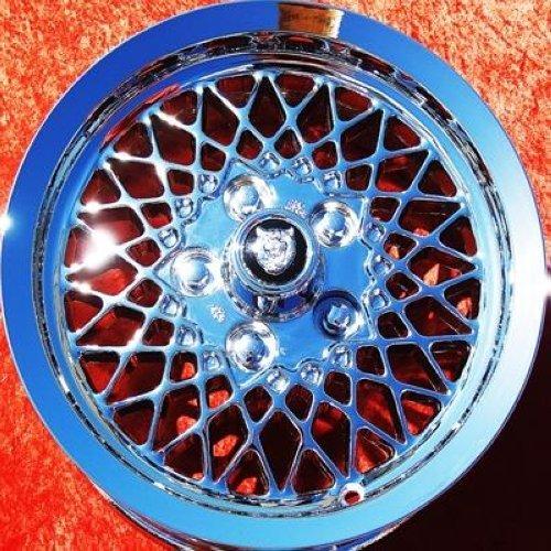 Lattice Rim - Jaguar XJ6 / XJS Lattice: Set of 4 genuine factory 15inch chrome wheels