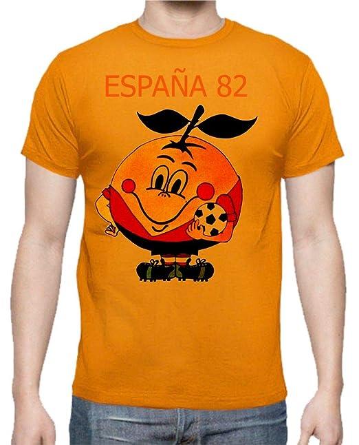 The Fan Tee Camiseta de NIÑOS Divertidas Naranjito 82 Mundial ESPAÑA Futbol Deporte Retro: Amazon.es: Ropa y accesorios