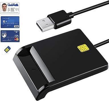 Amazon.com: mmusc Dod Militar USB CAC inteligente lector de ...