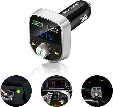 Reproductor de MP3 inalambrico Bluetooth Transmisor FM Radio USB Lector de Tarjetas SD Telefono Cargador de Coche Negro TWBB