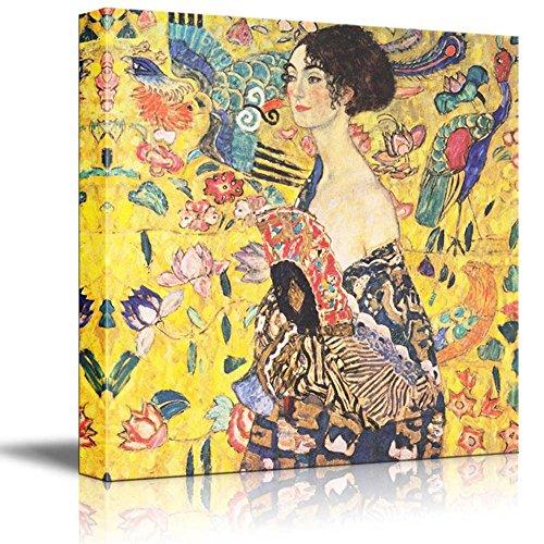 Woman with fan by Gustav Klimt Austrian Symbolist Painter Golden Phase