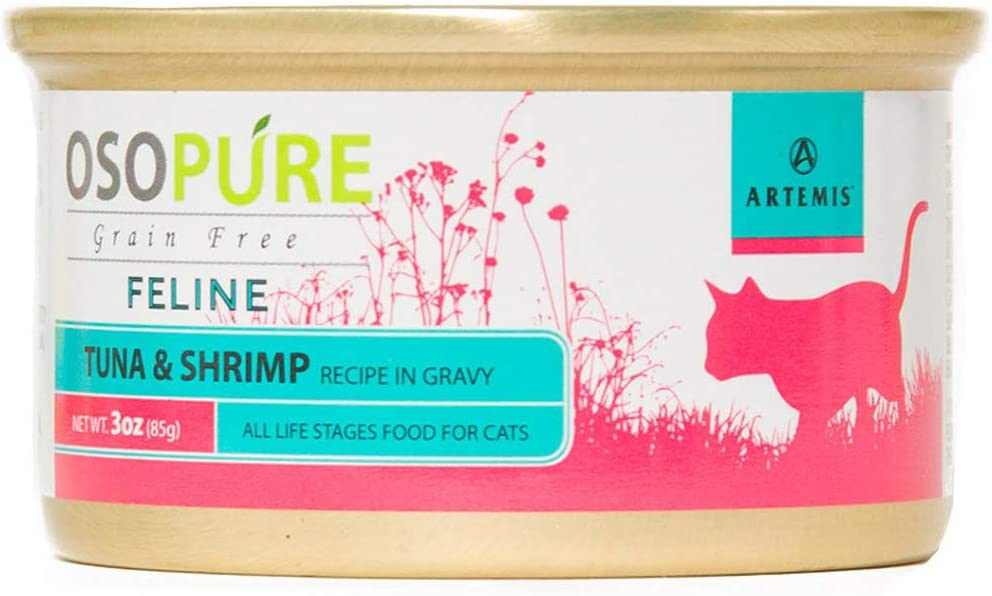 Artemis OSOPURE Healthy Cat Food - Grain Free Limited Ingredient Formula Protein Nutrition Dry and Canned for All Life Stages