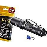 NiteCore MT1A 180 Lumens Compact Mini LED Flashlight w/ Clip & Bonus Lumen Tactical Keychain Light - Use 1 x AA Battery
