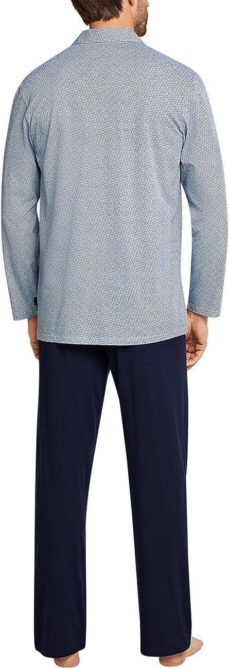 Schiesser Herren Pyjama Lang Zweiteiliger Schlafanzug