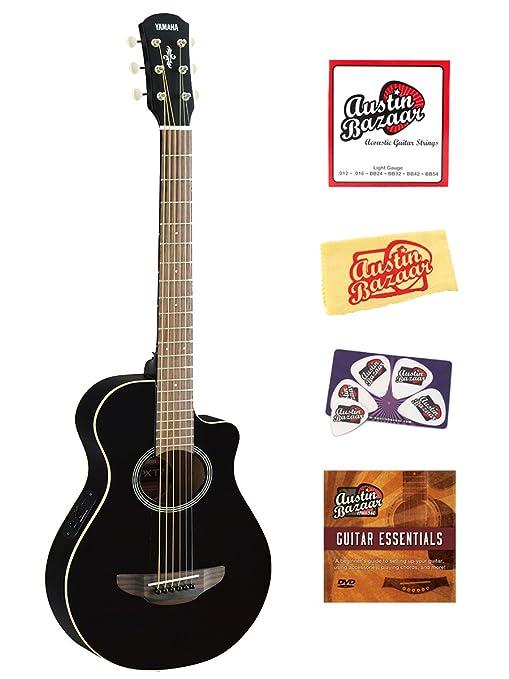 Yamaha APXT2 Guitarra eléctrica acústica, tamaño 3/4 paquete de guitarra con DVD de