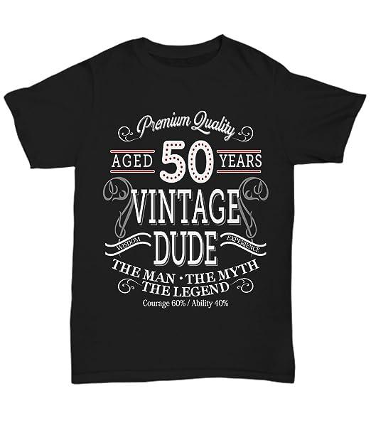 Amazon.com: cafeshirt envejecido 50 años Vintage – 50th ...