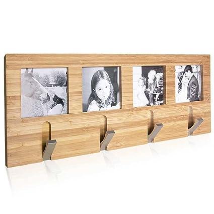 Perchero de pared con marco de fotos para dormitorio, sala ...