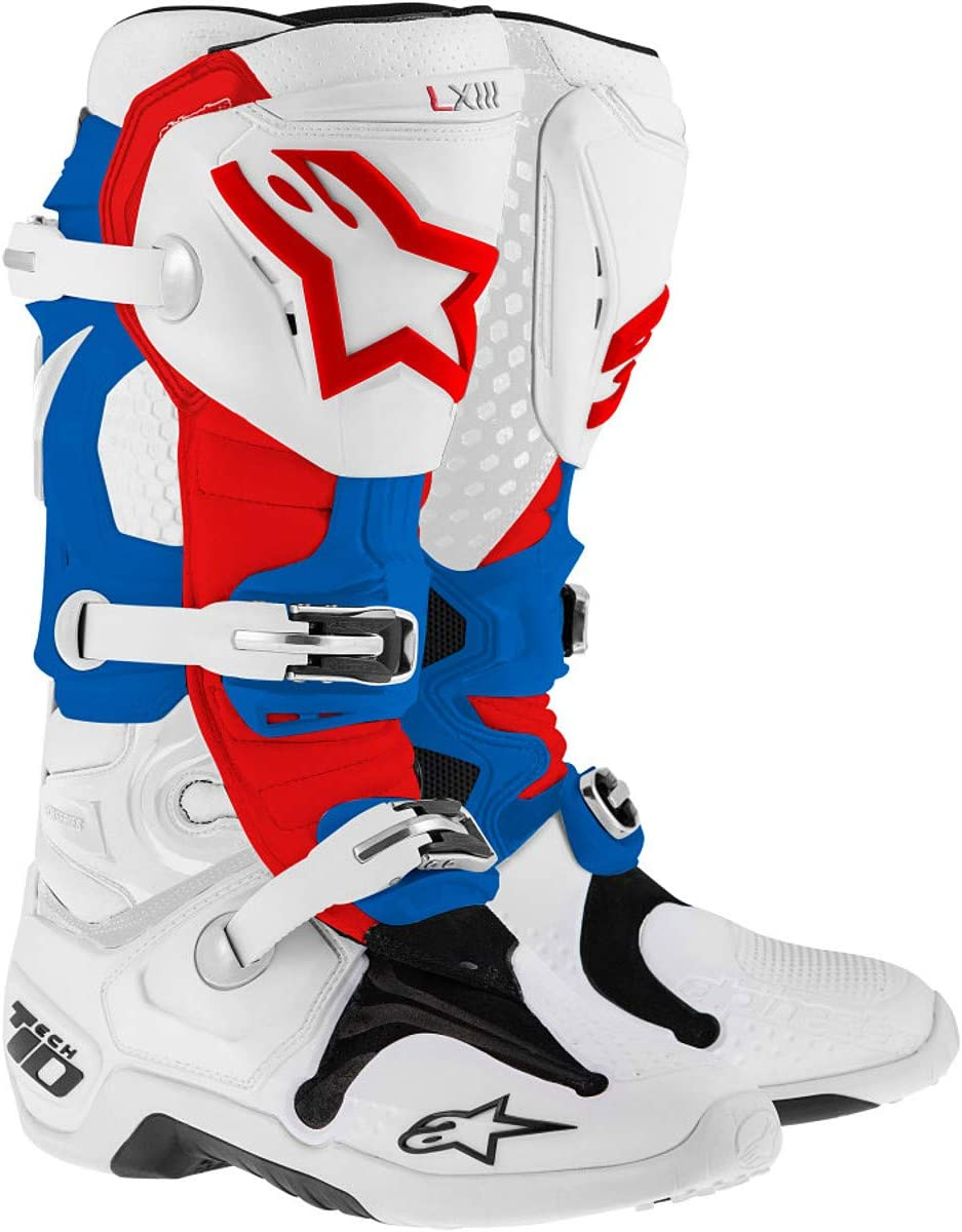 5 TECH 3 Off-Road Motocross Boot BLUE//WHITE//RED