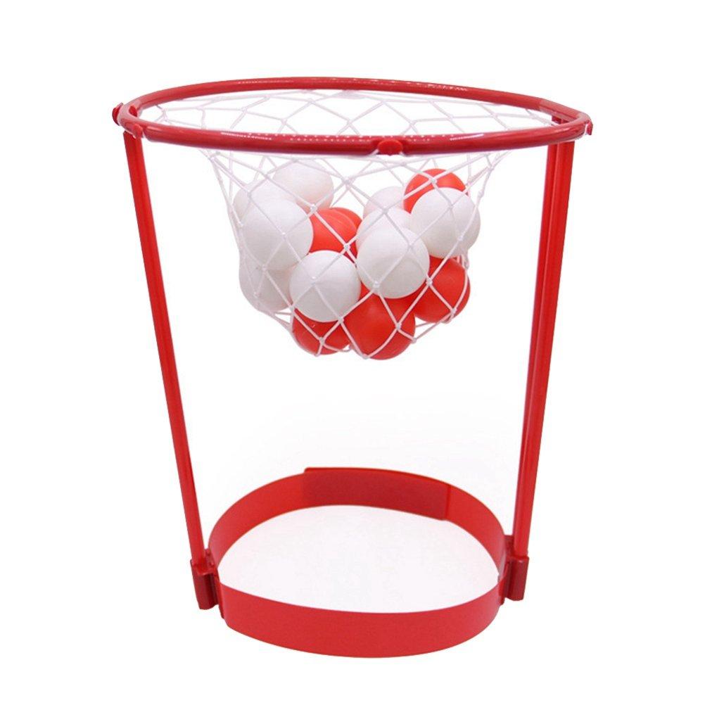 VORCOOL Fascia da passeggio per la palla da basket Catching Gioco da basket Cinghie per la testa Bomboniere per bambini all'aperto Giocattolo genitore-bambino (rosso)