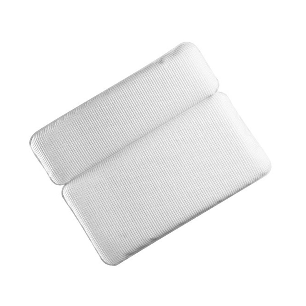 Alotm Non Slip Bath Pillow Waterproof Spa Bathtub Pillow with Strong Suction Cups for Any Size Tub Comfort Bath Pillow foe Back Support Neck Rest