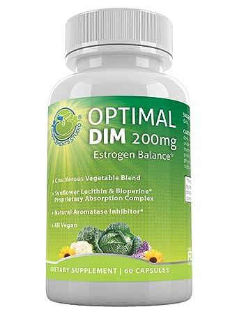 Amazon.com: Optimal Suplemento de Dim 200 mg – estrógeno ...