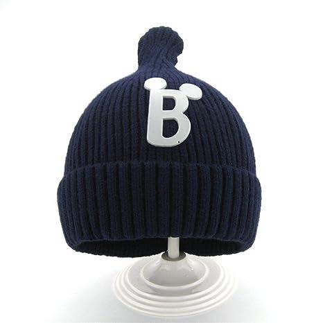 Cappello invernale per bambini 2 mesi -4 anni lavorati a maglia Beanie  Crest del bambino orecchio caldo tappo flip crochet dell orecchio per  ragazze e ... 625e336db818