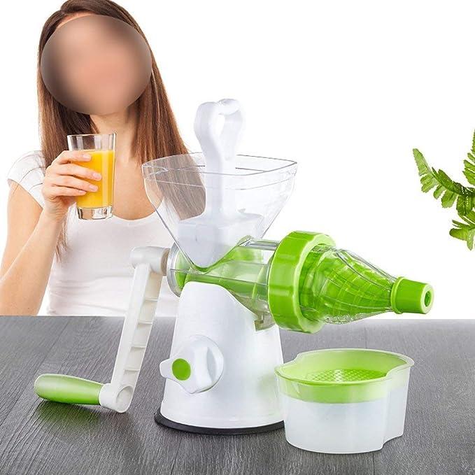 Exprimidor manual multiusos, sin BPA, prensa de manivela para naranja, zanahoria, hierba de trigo, exprimidor de verduras, extractor de granada: Amazon.es: Hogar