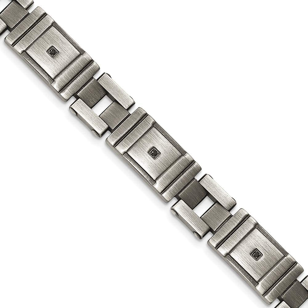 Saris and Things Stainless Steel Polished ID Bracelet 8.75in