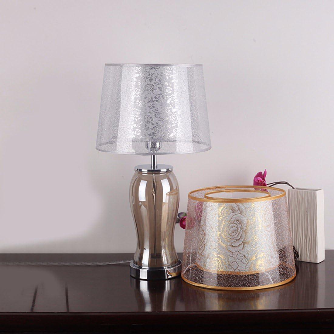 CJSHV-Lámpara de mesa Creativo Europeo De Dormitorio Lampara Velador Lampara De Cristal Caliente De Boda Moderno Minimalista Lámpara De Jardín,Plateado: Amazon.es: Iluminación