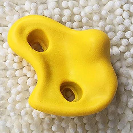 1 piezas de piedras de escalada con cuatro tornillos de garra para escalada en roca (rojo) Tamaño libre amarillo