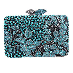 Bonjanvye Flower Kisslock Purses with Crystal Rhinestones ...