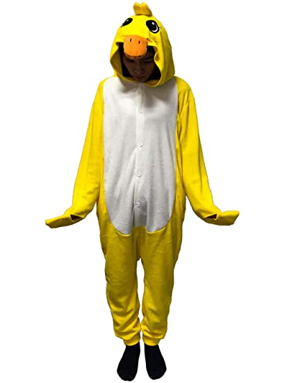 Pijamas Unisexo Adulto Traje Disfraz Animal Adulto Pato Amarillo