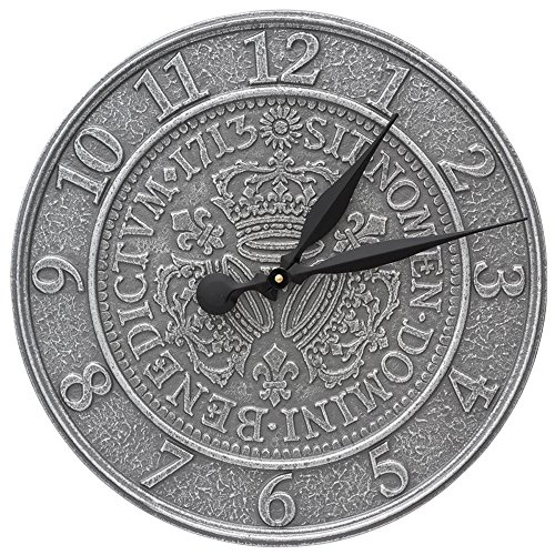 Three Crowns In Coin 16-in Indoor Outdoor Wall Clock - 02083 by Whitehall
