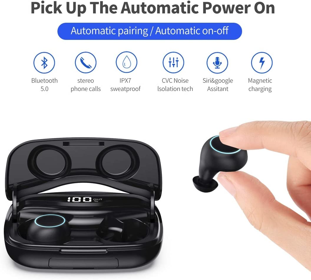 Vida IT G13 Bluetooth 4.1 Headset Wireless Earphone with HD Voice For iPhone 7 8 11 X Samsung Galaxy S7 S8 S9 S10 HTC Google Pixel LG Mobile Phone Volume Control with Long Battery Life