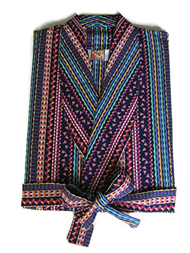 Hello Men 4XL Big Multicolor Robes Long Gown Shawl Collar Sleepwear (Big And Tall Mens Robes)