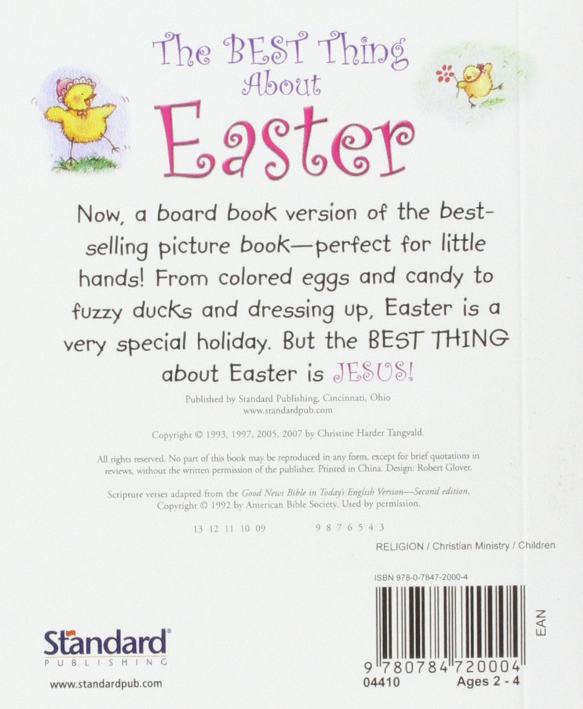 The Best Thing About Easter: Christine Harder Tangvald: 9780784720004:  Amazon.com: Books