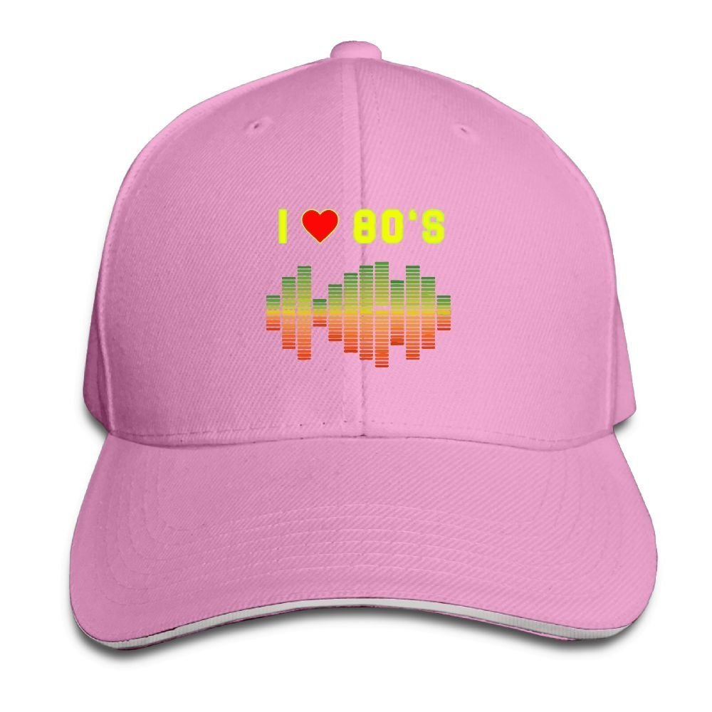 Unisex I Love 80s Music Rock Equalizer Love Eighties Fashion Peaked Cap Baseball Cap for Travel/Sports