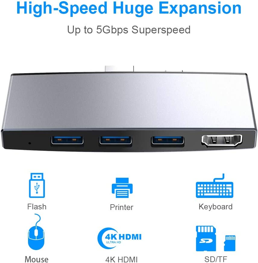 PRO USB 3.0 Card Reader Works for Spice Mobile Stellar 520n Adapter to Directly Read at 5Gbps Your MicroSDHC MicroSDXC Cards