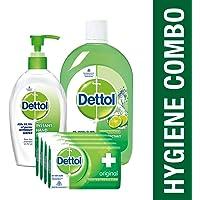 Dettol Personal Care Kit (Soap 300g, Sanitizer 200ml, Disinfectant Liquid 500ml)
