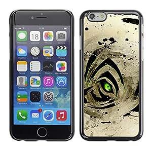 TECHCASE**Cubierta de la caja de protección la piel dura para el ** Apple iPhone 6 ** Abstract Tiger Eye