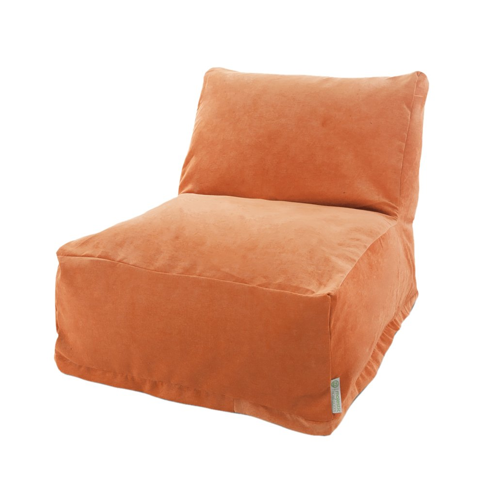 Majestic Home Goods Villa Orange Bean Bag Chair Lounger