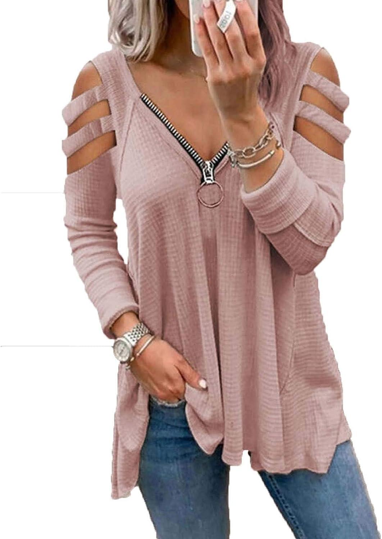 Women Casual V-Neck Off Shoulder Letter Print Short Sleeve Loose Tops Blouse