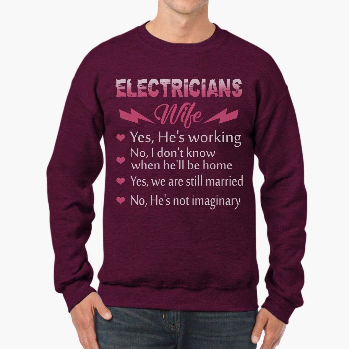 tee Doryti Electricians Wife Unisex Sweatshirt