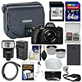 Olympus OM-D E-M10 Mark III 4K Micro 4/3 Digital Camera & 14-42mm EZ Lens (Black) with 16GB/64GB Cards + Case + Flash + Battery & Charger + Tripod Kit