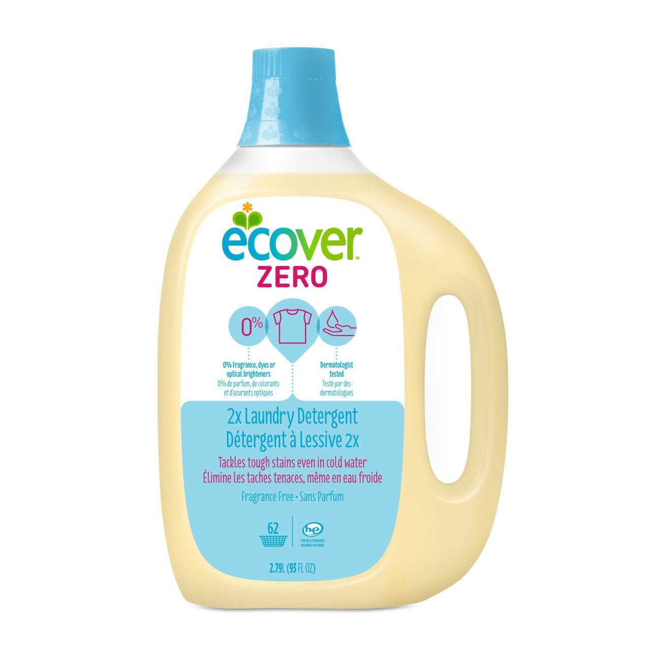 Ecover Zero Laundry Detergent, Fragrance Free, 93 Ounce (Pack 4) by Ecover