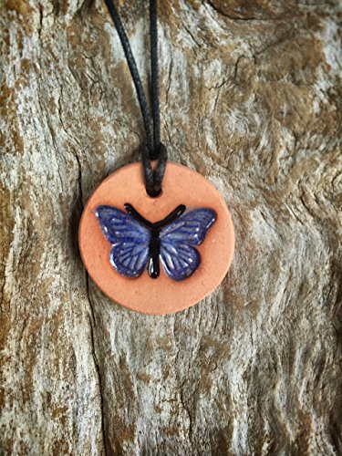 Butterfly Diffuser Necklace | Essential Oil Diffuser | Terracotta Diffuser | Girls Difffuser Necklace | Aromatherapy Pendant
