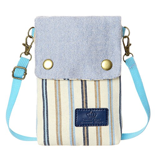 Women Wallet Blue4 Canvas Bags For Cell Small Phone Purse Crossbody Colorful Purse Teen Girls EznOXq