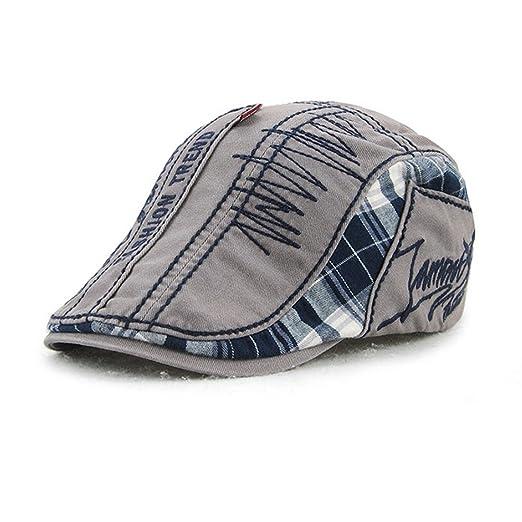 King Star Men Newsboy Hat IVY Irish Scally Flat Cap Cabbie Driving Caps Grey 65d0c17f8fbd