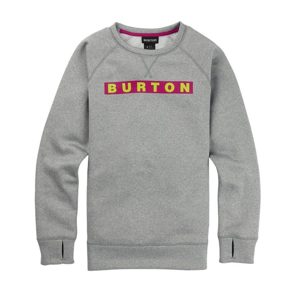 Burton Women's Oak Crew Sweatshirt, Gray Heather, X-Small by Burton