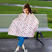 Vera Elephant 100% Breathable Cotton Nursing Cover (Petal Grey)