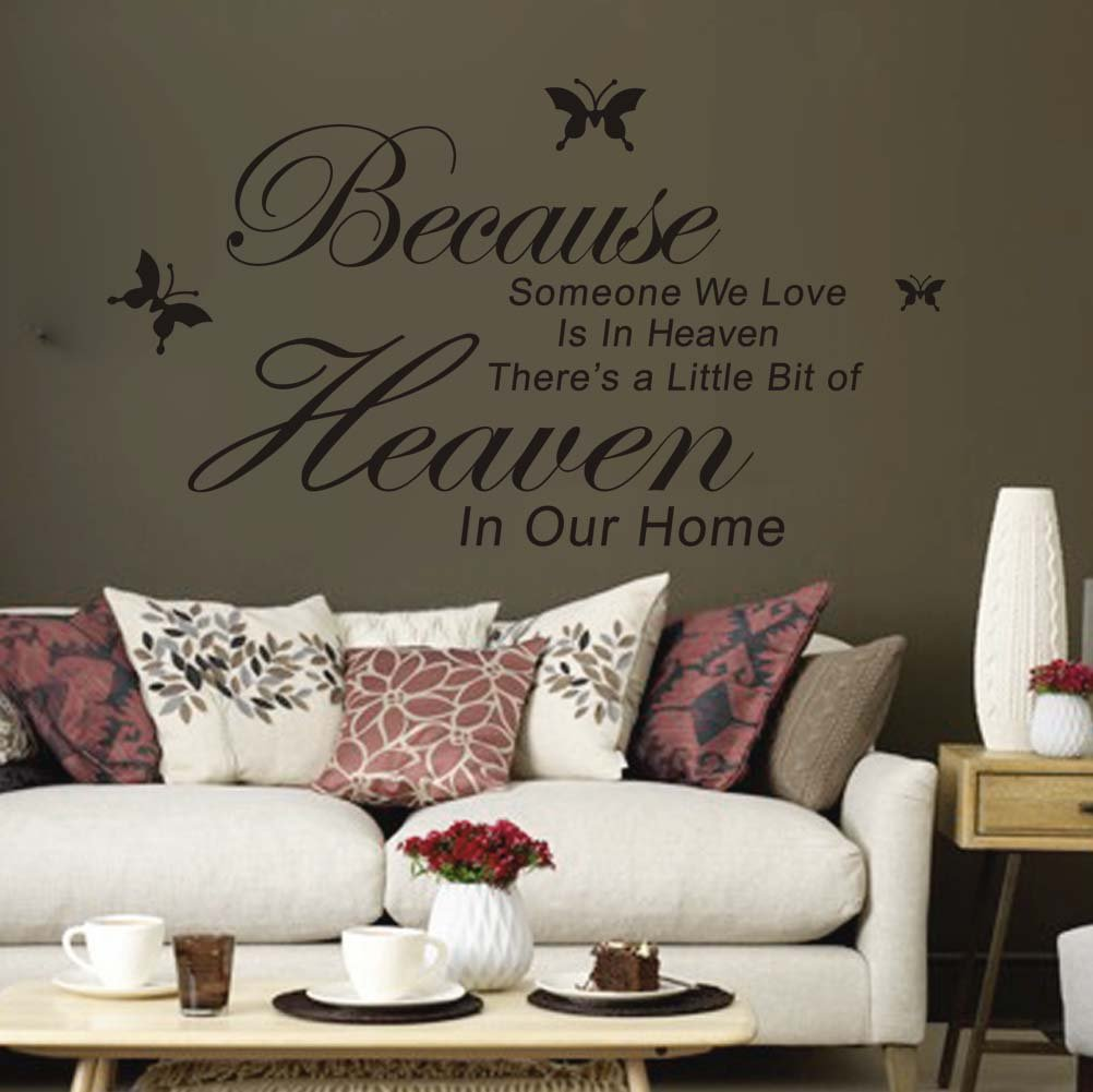 Because Someone We Love Is In Heaven Quotes Sayings Words Home Decor Wall Stickers Art Decals Vinyl Room Decor Amazon
