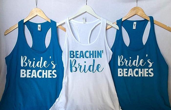 e10fa596f2f0 Amazon.com: Beachin' Bride - Bride's Beaches, Bachelorette Party ...
