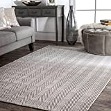 nuLOOM Kimberely Hand Loomed Area Rug, 4' x 6', Grey