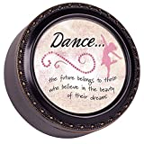 Cottage Garden Dance Distressed Black Tiny Round Treasure Box
