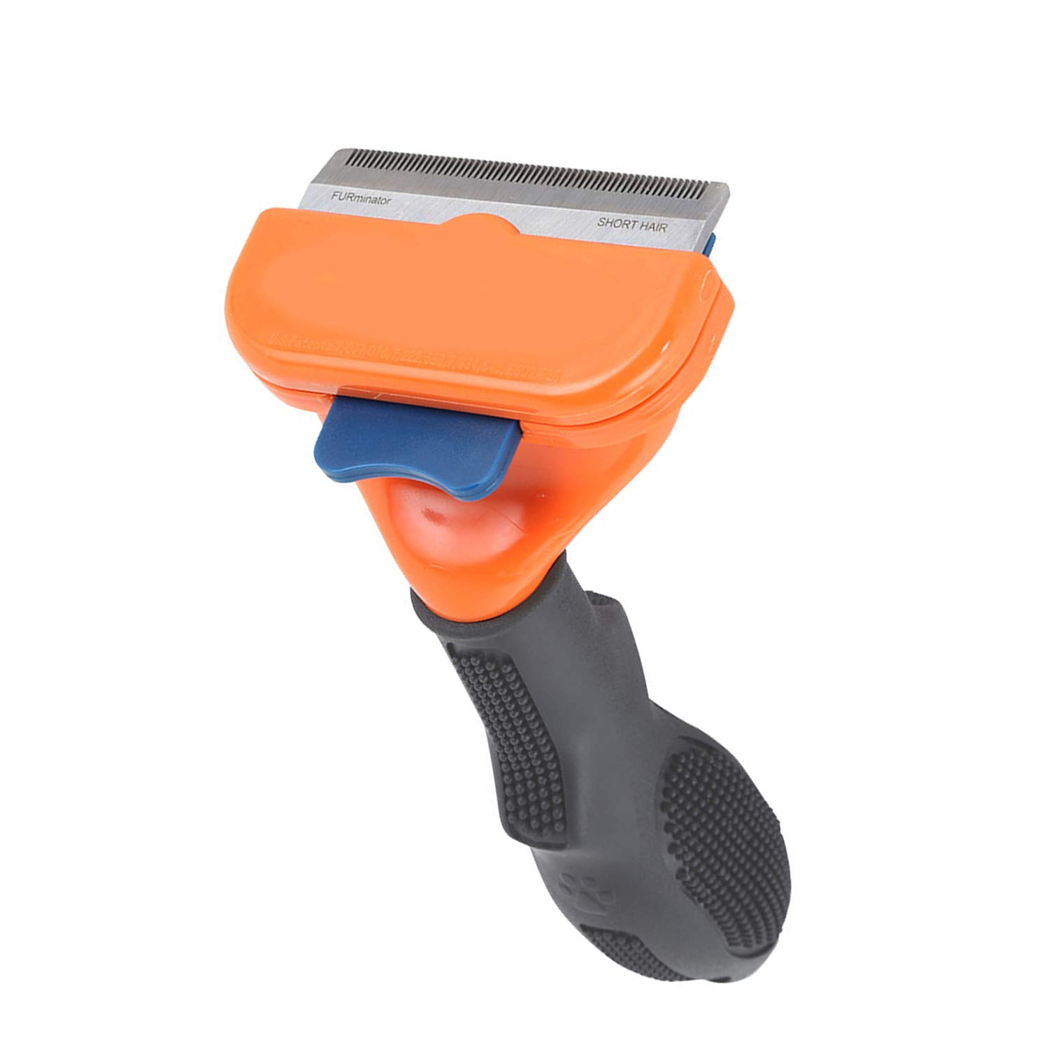 Deshedding Brush-Dog Shedding Tool with Stainless Steel Trimming Blade by Pttaa